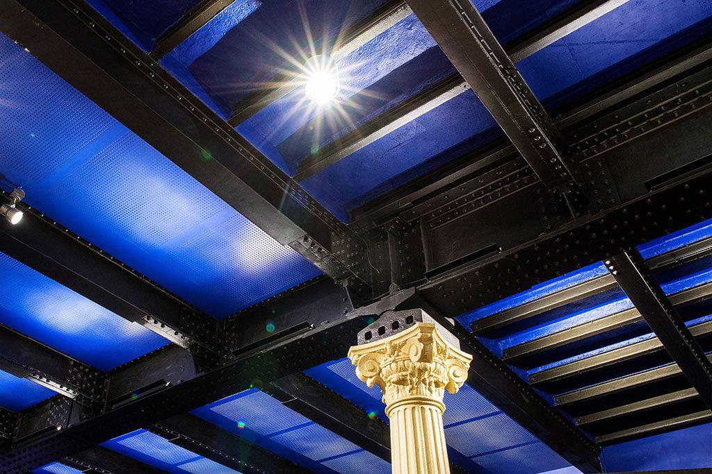 Photo du plafond de la gare des Invalides
