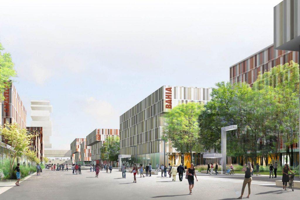 Image de synthèse du futur quartier Toulouse Aerospace