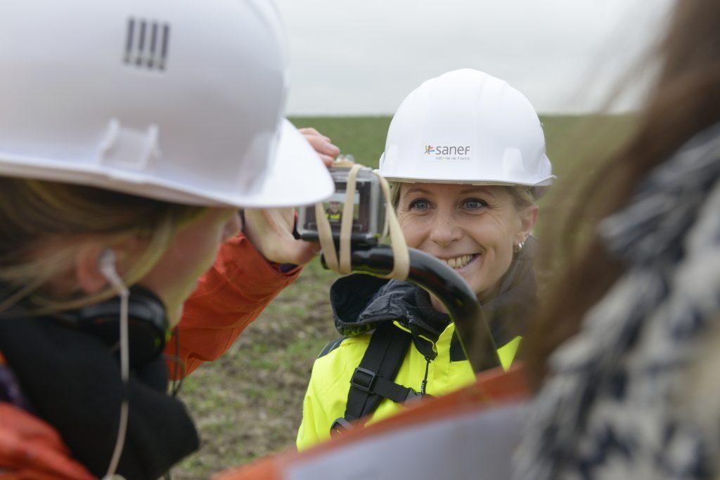 """Photo du tournage de la websérie """"Les coulisses du chantier"""""""